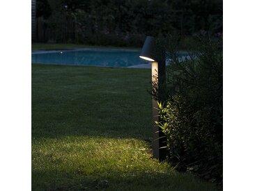 Lampe d'extérieur sur pied moderne anthracite avec LED - Uma
