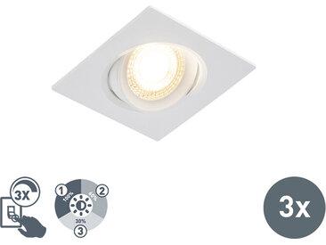 Lot de 3 spots encastrables avec LED dimmable en 3 étapes - Miu