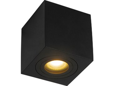 Spot de salle de bain moderne carré noir IP44 - Capa