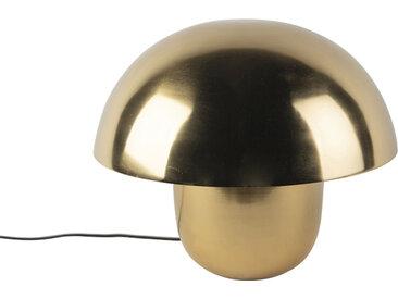 Lampe de table ronde moderne 40 cm doré avec intérieur blanc - Canta