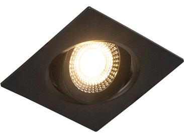 Lot de 3 spots encastrables noir avec LED dimmable en 3 étapes - Miu