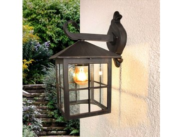 Lampe d'extérieur carrée romantique brun rouille IP23 - Ida
