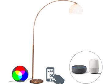 Lampe à arc moderne intelligente en cuivre avec A60 Wifi - Arc Basic