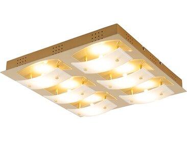 Plafonnier carré moderne LED en or - Grant