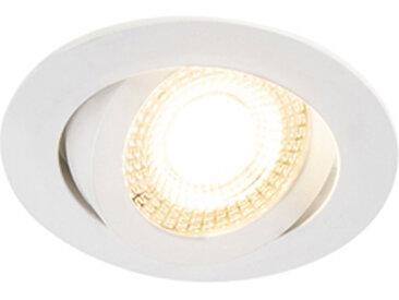 Lot de 5 spots encastrables blancs avec LED dimmable en 3 étapes - Mio
