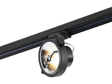 Spot LED triphasé sur rail noir 15W 2700K avec AR111- Expert