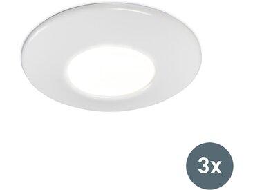 Spot de salle de bain encastré blanc lot de 3 - Gap