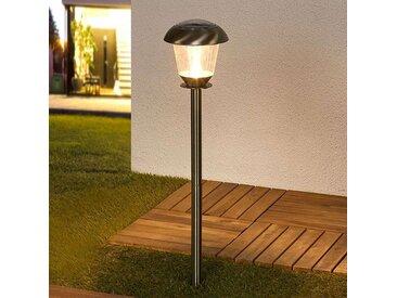 Lampe d'extérieur classique en acier inoxydable avec LED sur l'énergie solaire - Nela