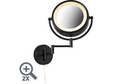 Interrupteur à cordon noir pour miroir de maquillage rond x2 - Vicino