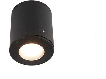 Spot extérieur moderne noir IP55 incl. GU10 - Franca
