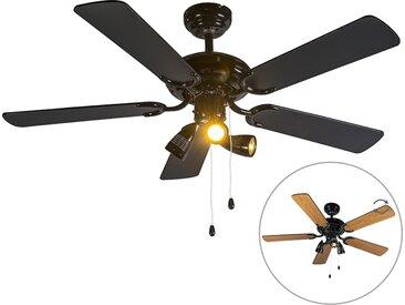 Ventilateur de plafond noir - Mistral 42