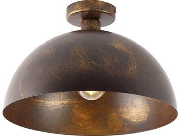 Plafonnier industriel brun rouille 35 cm - Magna Classic
