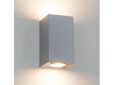 """LW Eckige Metall-Wandleuchte Kabir"", ""GU10 LED"""