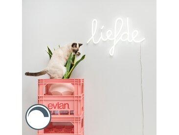 Applique blanche avec télécommande avec LED - Neon Love