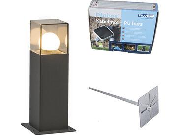 Lampe d'extérieur 30 cm anthracite avec épingle de terre et manchon de câble - Danemark