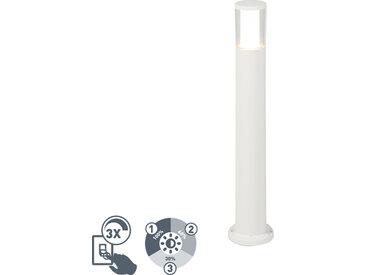 Poteau ext��rieur moderne blanc 80 cm IP55 avec GU10 - Carlo