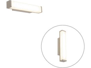 Applique de salle de bain acier 32 cm avec LED IP44 - Cascada