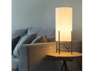 Lampe de table moderne abat-jour en tissu noir blanc - Rich