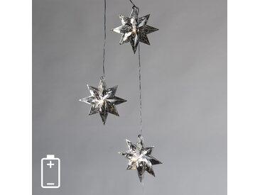Lumières de Noël Étoiles 3 LED blanc chaud