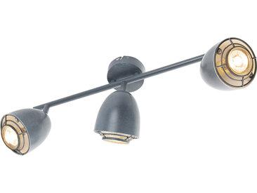 Spot de plafond gris pivotant et inclinable à 3 lumières - Plan