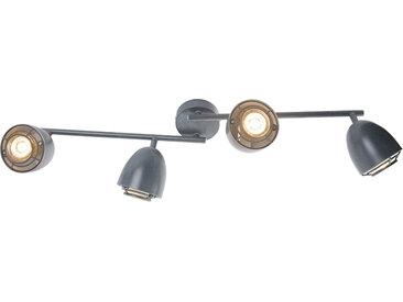 Spot de plafond gris pivotant et inclinable à 4 lumières - Plan