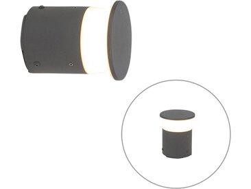Lampe d'extérieur moderne gris foncé 12 cm avec LED - Bar
