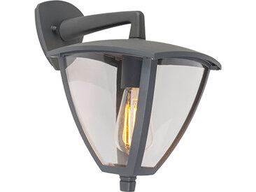 Lanterne d'extérieur classique mur bas gris foncé IP44 - Platar