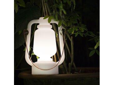 Lampe de table rechargeable 30 cm blanche - Storm Small