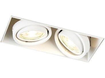 Spot encastré blanc rotatif et inclinable sans garniture - Oneon 2