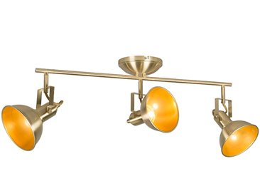 Spot de plafond or / laiton à 3 lumières pivotant et inclinable - Tommy