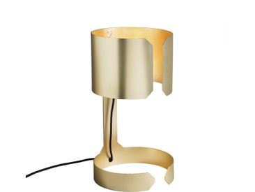 Lampe de table design or mat - Valse