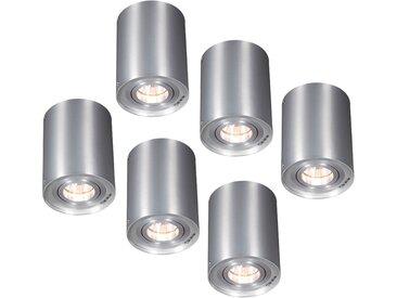 Lot de 6 spots aluminium rotatifs et inclinables - Rondoo 1 up