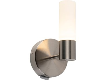 Applique de salle de bain moderne acier LED incl. - Dilan
