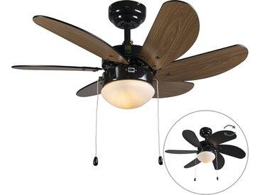 Ventilateur de plafond noir - Fresh 3