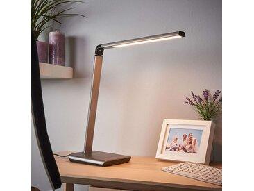 Lampe de bureau anthracite avec port USB avec LED et dimmer - Kuno