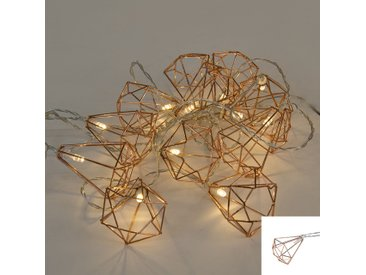 Lumières de Noël lumière cordon Diamond 12 blanc chaud LED 2,2 mètres