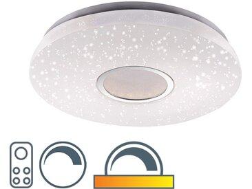 Plafonnier rond moderne blanc avec ciel étoilé 46cm avec LED 22W 1350 lumen - Jonah