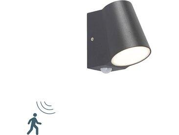 Lampe d'extérieur anthracite avec détecteur de mouvement avec LED - Uma
