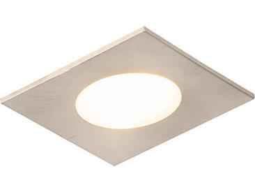 Lot de 3 spots encastrables carré acier avec LED IP65 - Simply