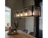 Lampe à suspension industrielle noire avec filet à 4 lumières - Cage