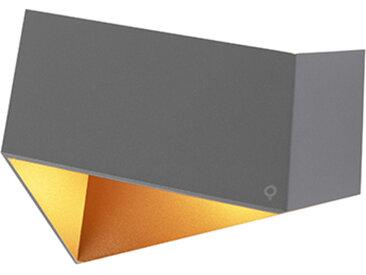 Applique design grise avec cuivre - Fold