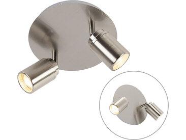Spot de salle de bain moderne en acier 2 lumières IP44 - Ducha