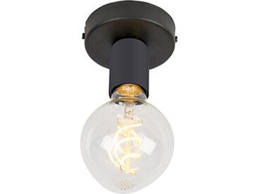 Plafonnier moderne noir 1 lumière - Facile