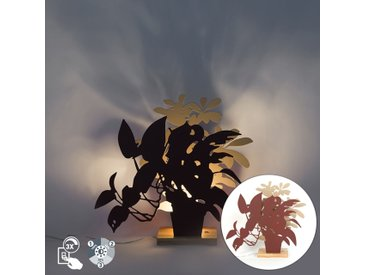 Lampe de table country rouge avec beige et LED incl. - Silhouettes