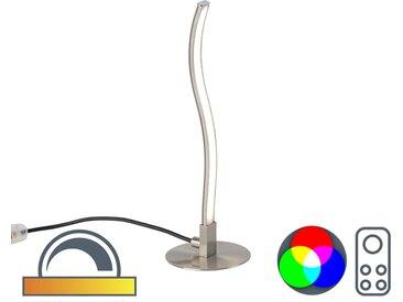Lampe de table design acier LED et télécommande - Onda