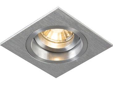 Spot encastré carré pivotant et inclinable en aluminium - Mandrin