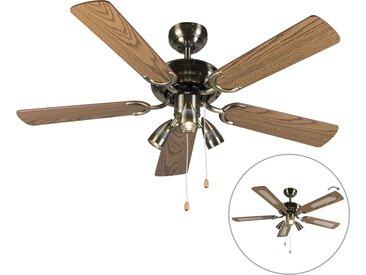 Ventilateur de plafond bronze - Mistral 42