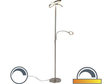 Lampadaire moderne en acier avec lampe de lecture incl. LED - Moderno II