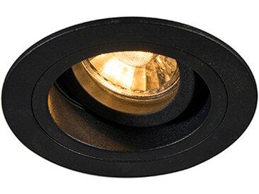 Spot encastrable moderne noir 9,2 cm orientable et inclinable - Chuck