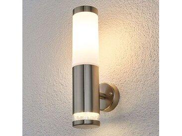 Lampe d'extérieur ronde moderne en acier inoxydable - Binka